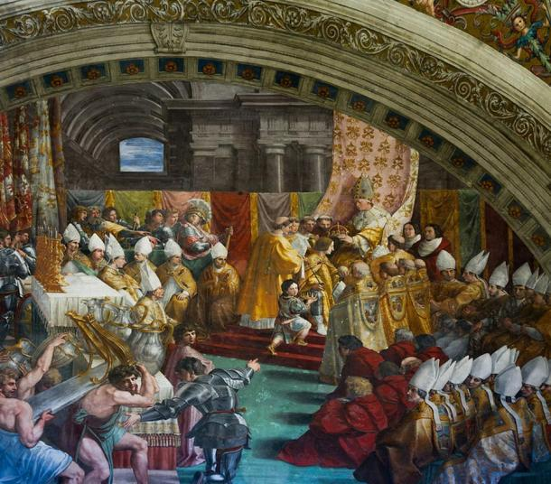 the imperial coronation of charlemagne Today aachen's tourist board has set out a route charlemagne to show you around the sights relating to its former ruler, like the city hall, site of his palace and where the imperial coronation feast was held.