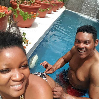 omotola husband touches her butt