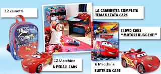 Logo Concorso ''Vinci ogni giorno con Cars'': zainetti, auto elettriche e a pedali e molto altro