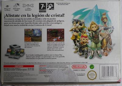 Final Fantasy Crystal Chronicles - Caja cartón detrás