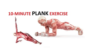 Plank Exercise – 10 Minute Plank Workout