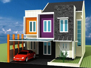 6 color choices of paint Modern minimalist Home