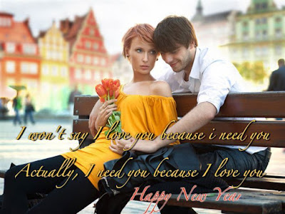 Happy New Year Couple Greetings Wallpaper 2017