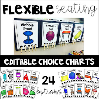 Grab your own editable choice charts here also flexible seating teaching to love rh teachingtolove