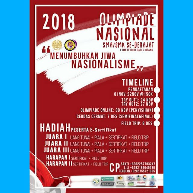 Olimpiade Nasional 2018 SMA Sederajat UNESA