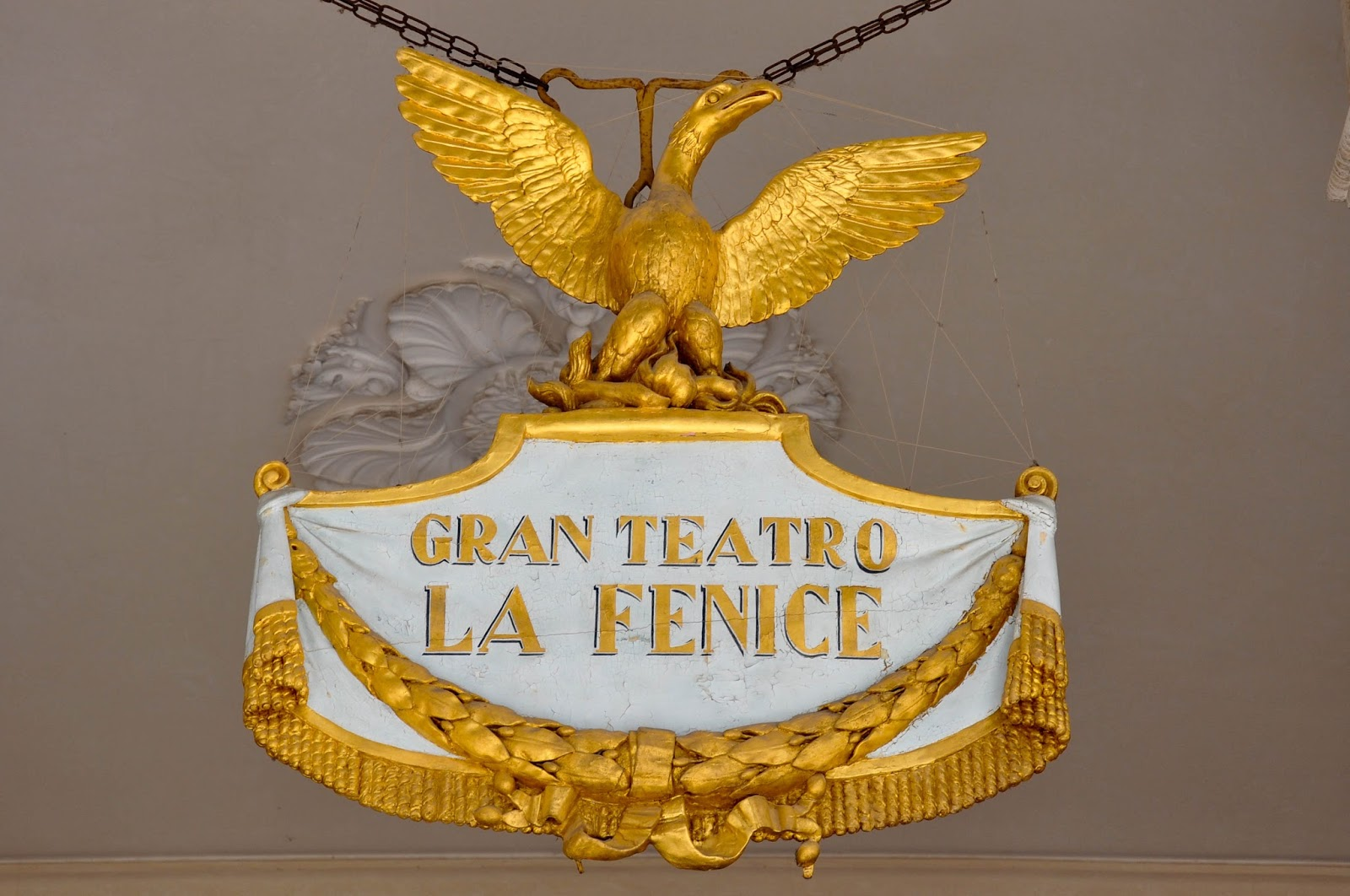 The golden phoenix, La Fenice, Venice, Italy