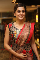 Tapsee Pannu Latest Stills in Red Silk Saree at Anando hma Pre Release Event .COM 0059.JPG