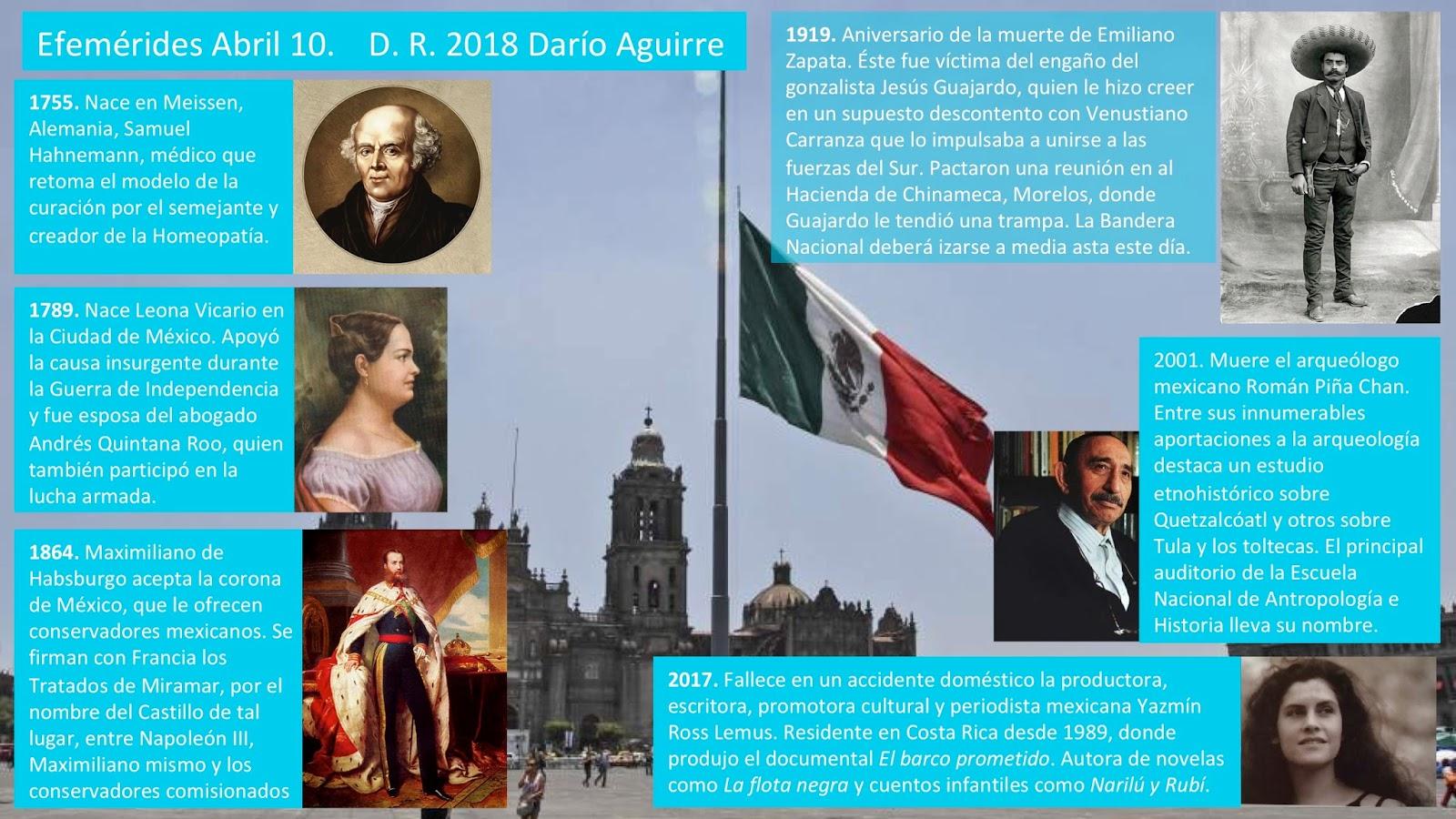 El Maestro Efemerides Mexicanas Abril 10