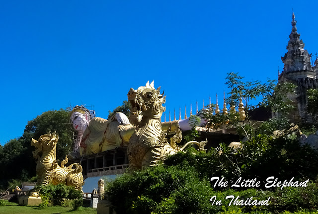 Huge sleeping Buddha at the Wat Phra That Suthon in Den Chai, Thailand