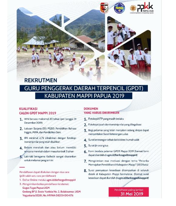 Rekrutmen Guru Penggerak Daerah Terpencil MAPPI Gelombang 4 Tahun 2019