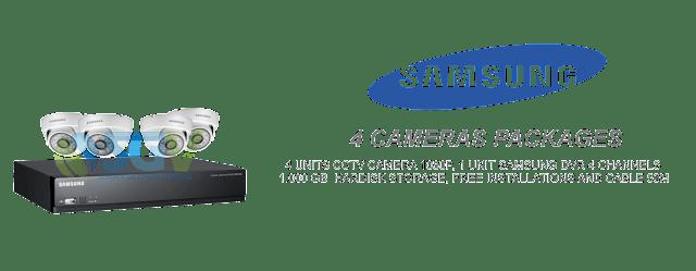Paket 4 Camera CCTV Samsung