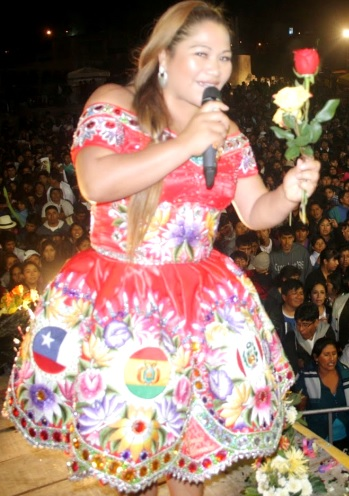 Foto de Sonia Morales en el escenario