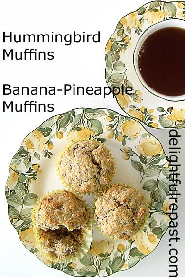 Hummingbird Muffins - Banana-Pineapple Muffins / www.delightfulrepast.com