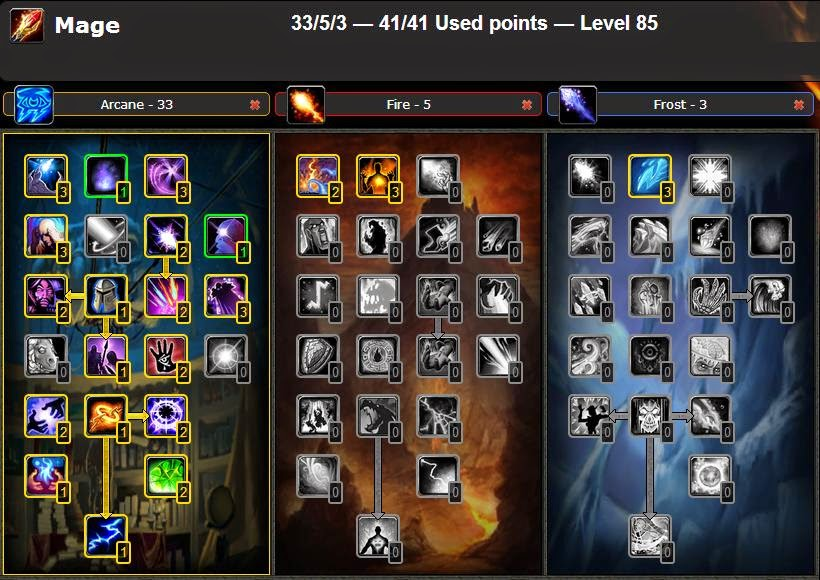 Wow Best Pvp Pve Talent Leveling Guide Pvp Arcane Mage Talent Guide Glyphs Wow Cataclysm 4 3 4