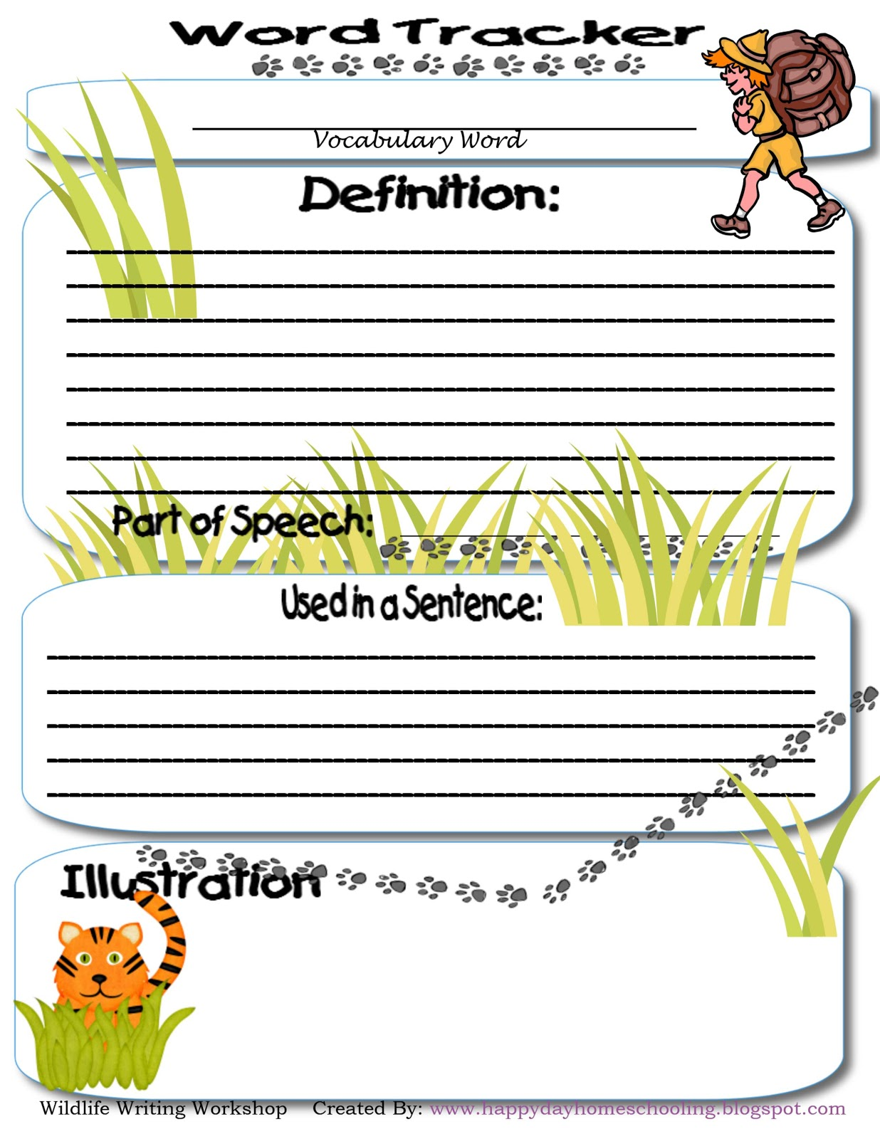 Happy Day Homeschooling Wildlife Word Work Amp More