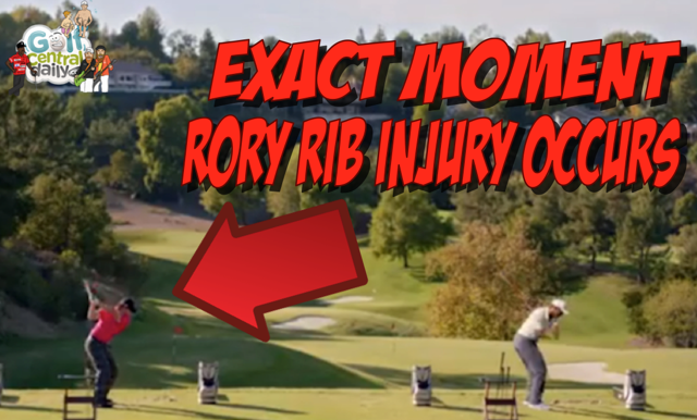 Rory McIlroy Rib Injury Video