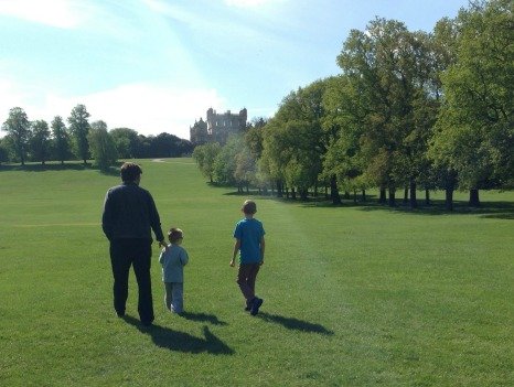 Life Before the Hubby | Morgan's Milieu: My boys; The Hubby, LP, and BP, taking a stroll in Wollaton Park.