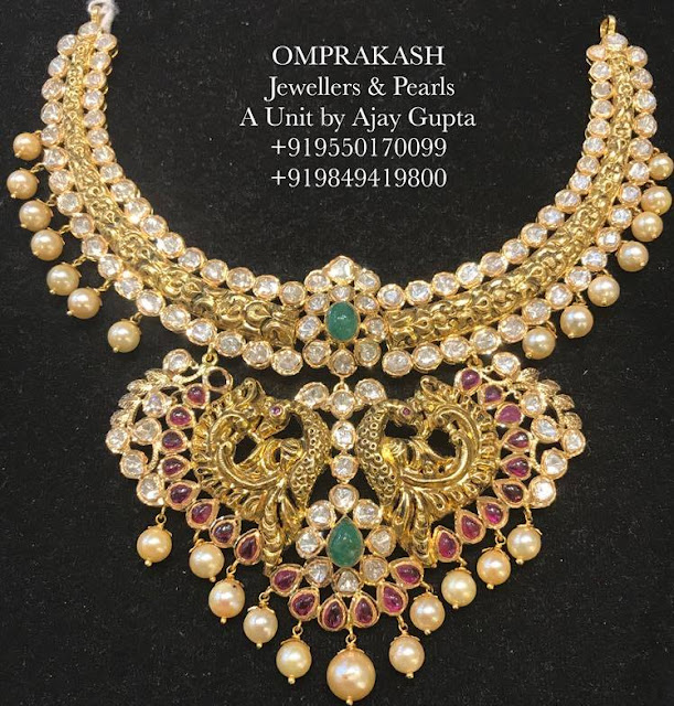 Peacock Necklace by Omprakash Jewellers