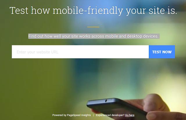 Cara Cek Kecepatan Blog Atau Website Di Mobile Website Speed Testing tool