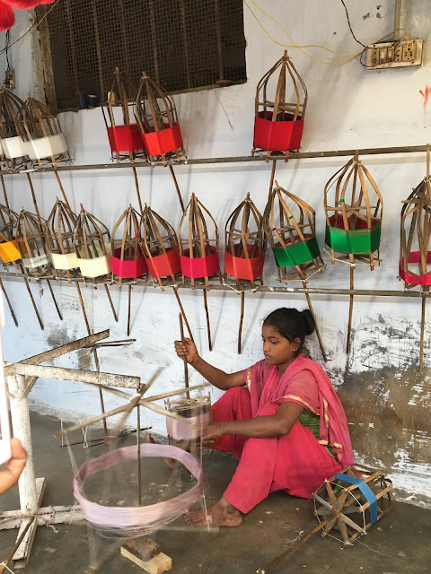 bright colors, contrasting colors, photography, indian village, weaving threads, hand loom, untangle, wooden frames