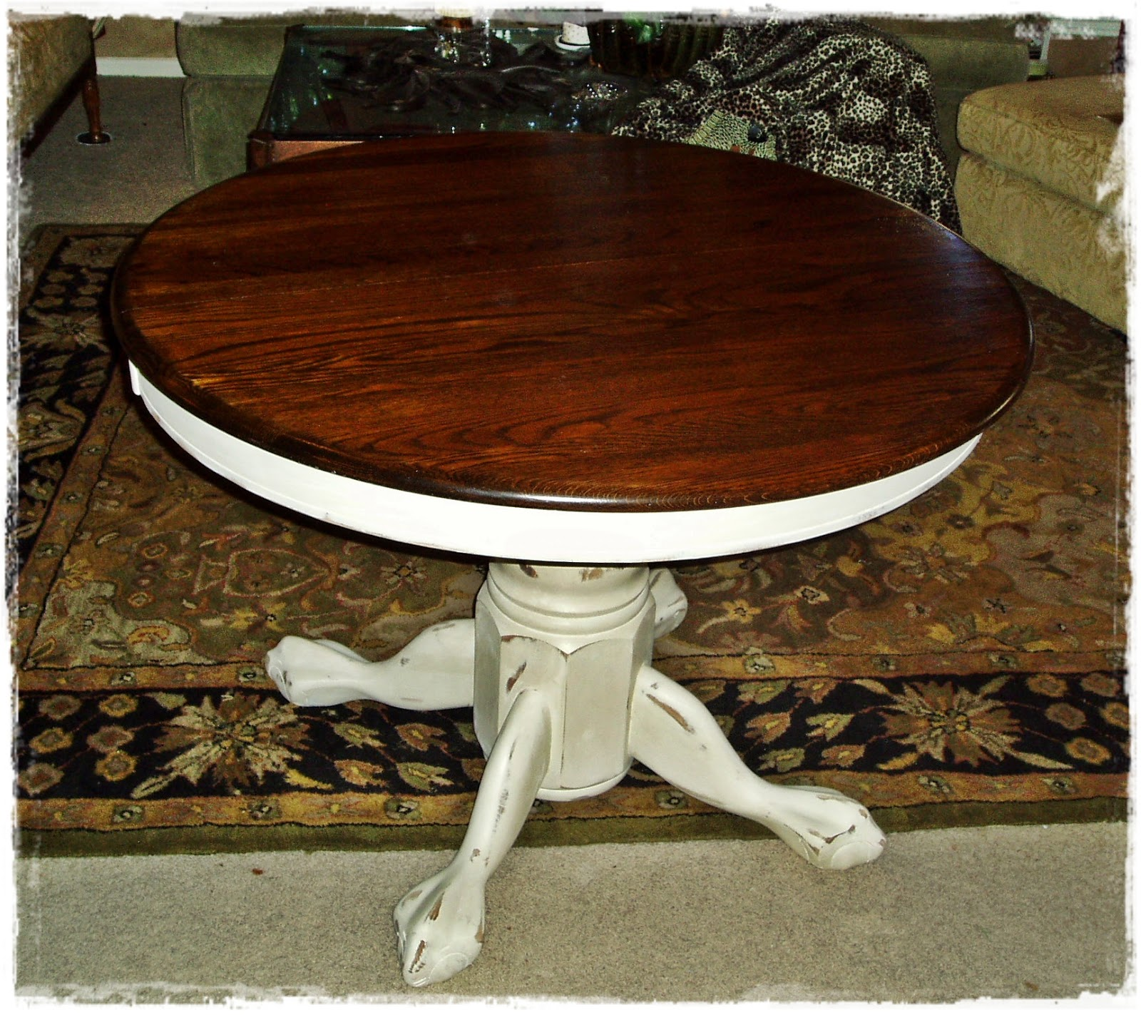 Round Pedestal Kitchen Table Franke Sink Faux Painting 43 Furniture French Country