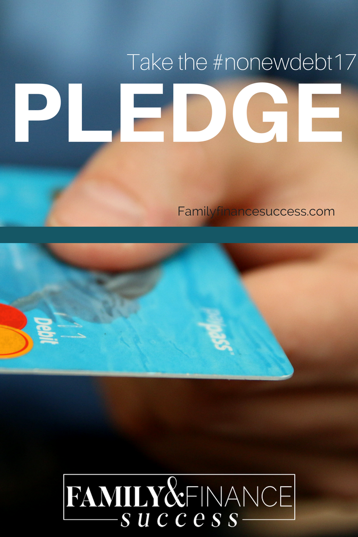 The first step to creating financial freedom is to make a commitment to stop using credit cards and creating debt. Take the #NONEWDEBT pledge with me as we embark on this journey together!