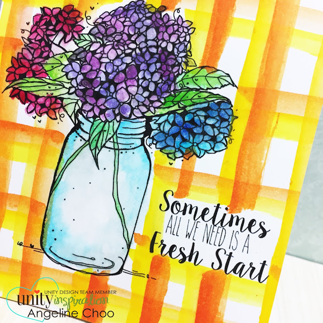 ScrappyScrappy: [NEW VIDEOS] Watercolor Frenzy with Unity Stamp #scrappyscrappy #unitystampco #card #cardmaking #watercolor #peerlesswatercolor #plaids #video #youtube #quicktipvideo #floral