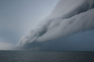 Long Point, Ontario, Storm, shelf cloud