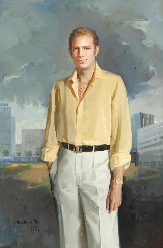 Félix Revello de Toro, Retrato de hombre con camisa amarilla, Retrato con camisa amarilla, Félix Revello de Toro, Pintor español, Retratos de Félix Revello de Toro