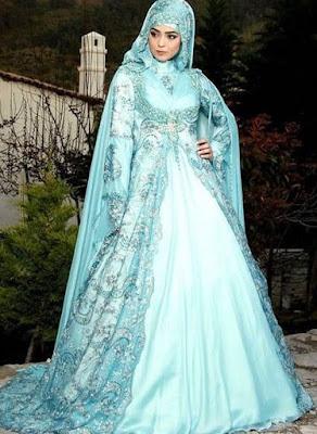 Gaun kebaya pengantin muslim masa kini