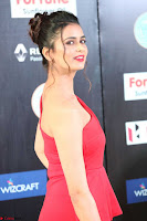 Meenakshi Dixit in Red One Shoulder Red Zipped up gown at IIFA Utsavam Award 21.JPG