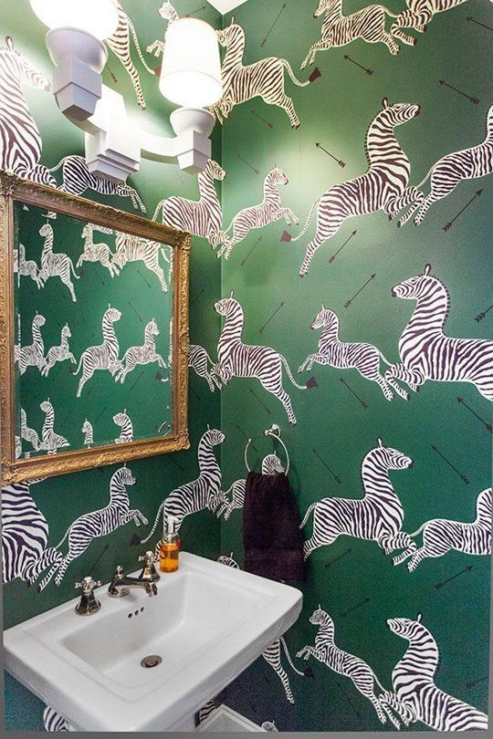 Chinoiserie Chic: Scalamandre Zebras Bathroom Roundup