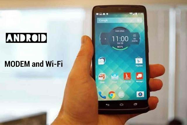 Smartphone Android Sebagai Modem atau Wifi