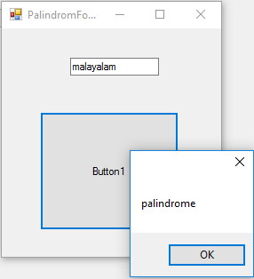 Palindrome check in vb