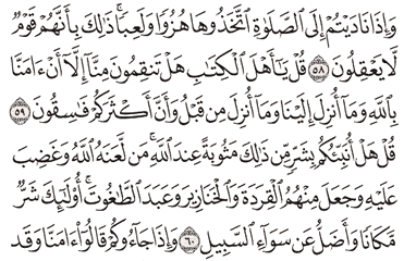 Tafsir Surat Al-Maidah Ayat 56, 57, 58, 59, 60