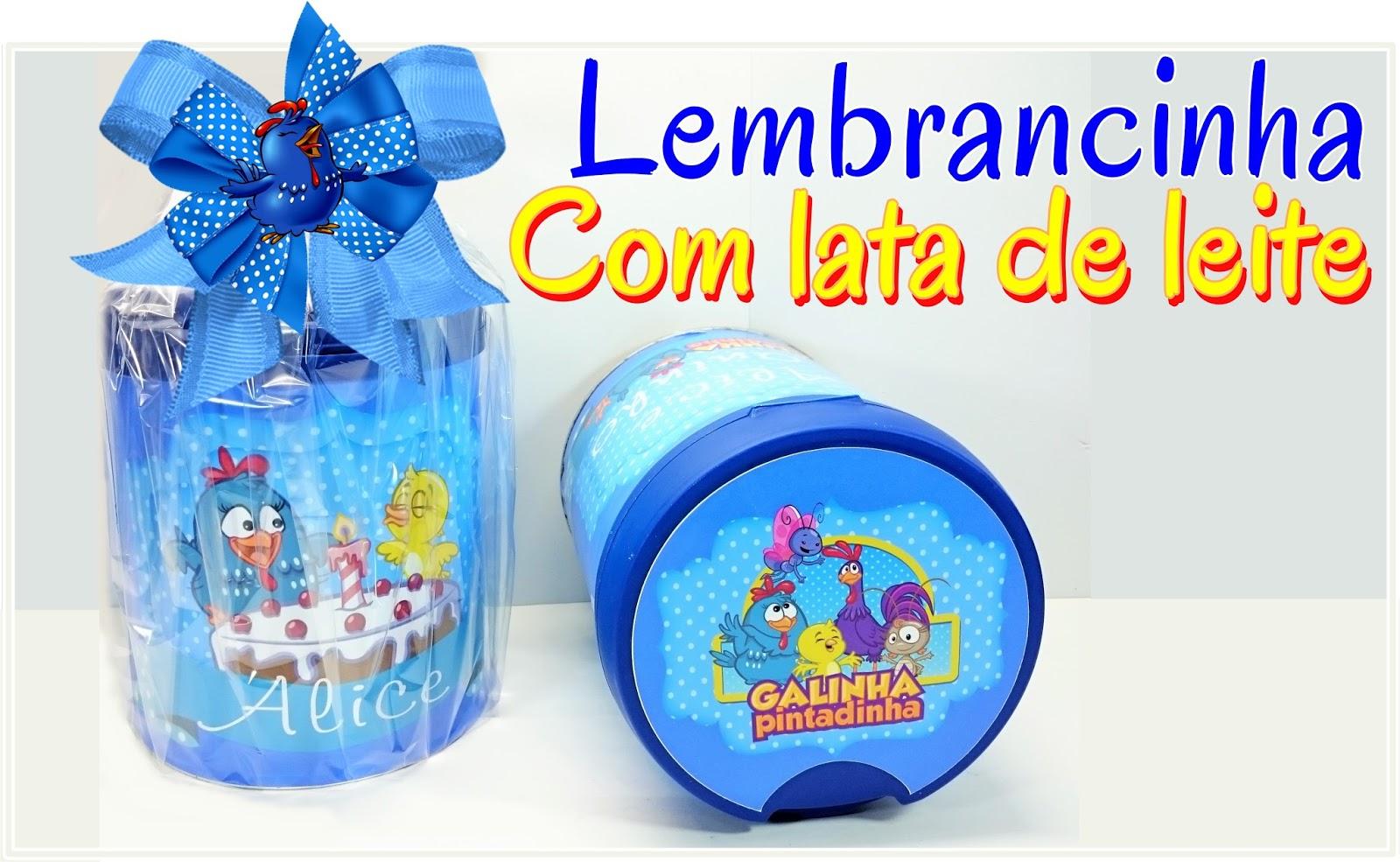 Adesivo De Lembrancinha Da Galinha Pintadinha ~ Artesanato Viviane Magalh u00e3es COMO FAZER LEMBRANCINHAS LINDAS COM LATAS DE LEITE