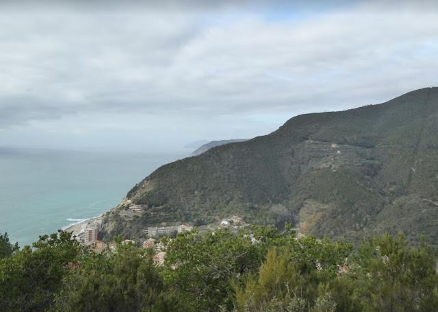 veduta di Deiva Marina dal sentiero verdeazzurro