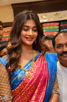 Puja Hegde looks stunning in Red saree at launch of Anutex shopping mall ~ Celebrities Galleries 013.JPG