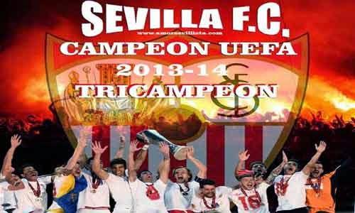 """Fondo Sevilla F.C. """"Campeón Uefa 2014"""""""