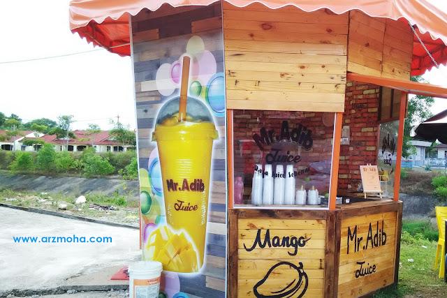 Mr Adib Manggo Juice Tok Jembal Kuala Terengganu Rasa Jus Mangga Sebenar, air jus mangga sedap, kisok jus mangga kuala terengganu, jus buah kuala terengganu,