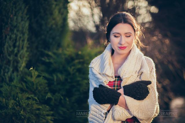 Sweter i rękawiczki dla Panny Młodej