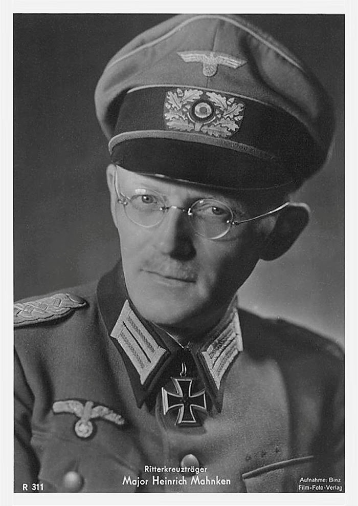 Heinrich Mahnken Ritterkreuzträger Knight Cross Holder Postcard