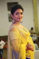 Actress Eesha in Yellow Choli Blue Ghagra at Darshakudu music launch 015.JPG