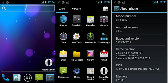 Upgrade Galaxy Ace S5830 to Android Ice Cream Sandwich ICS 4.0 how to android 2