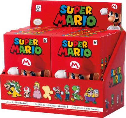 Llegará una colección de pins a Australia de Super Mario Bros.
