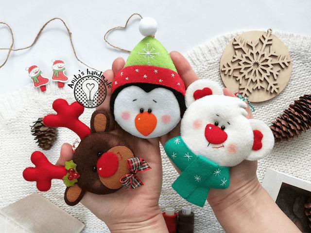 filc, felt, fieltro, feltro, boże narodzenie, boze narodzenie, natal, christmas, christmas decorations, Felt decorations, christmas ornaments, ozdoby choinkowe, ozdoby na choinkę, filcowe ozdoby choinkowe, filcowe ozdoby na choinke, felt christmas, rekodzielo z filcu, anitas handmade, anita handmade, rękodzieło, rekodzielo, christmas design, mis polarny, polar bear, renifer, reindeer, pingwin pengui, felt pengui, felt reindeer, felt polarbear