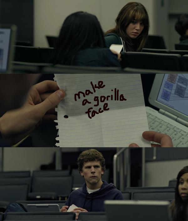 Pon cara de gorila, película facebook