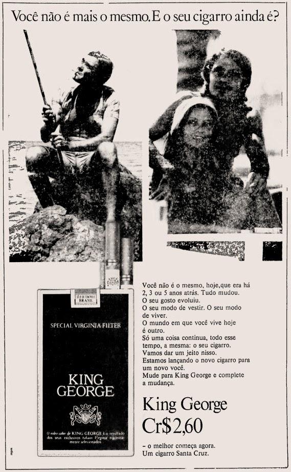 1973. propaganda cigarros anos 70. propaganda anos 70; história decada de 70; reclame anos 70; propaganda cigarros anos 70; Brazil in the 70s; Oswaldo Hernandez;