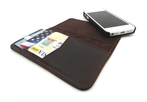 buy popular d7ccb e3d95 Artisan Premium Leather Wallet Case for iPhone 5 | Spicytec