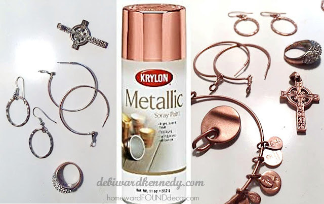Krylon rose gold spray paint